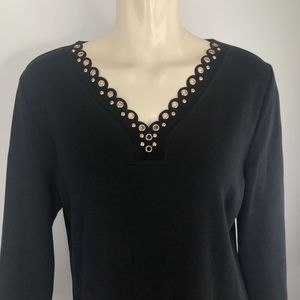 🌟Raffaella embellished neckline/top/sweater Large